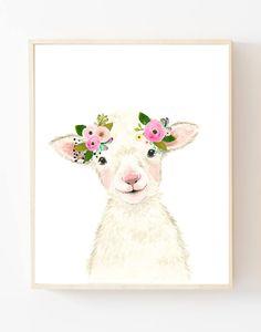 Farm animals prints set of 3 prints Farm Animal Nursery Lamb Nursery, Farm Animal Nursery, Baby Farm Animals, Girl Nursery, Animal Art Prints, Animal Paintings, Kids Room Wall Art, Nursery Wall Art, Nursery Decor