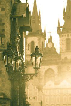 Foggy Morning, Prague, Czech Republic; photo via walking