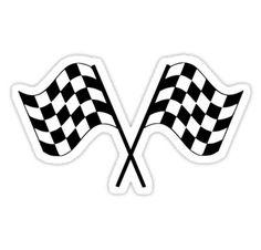 Checkered Flag Racing Car Auto Window Bumper Decal  Sticker Hot Wheels Birthday, Race Car Birthday, Cars Birthday Parties, Race Car Stickers, Funny Stickers, Bolo Blaze, Festa Monster Truck, Hawaiian Party Decorations, Car Flags