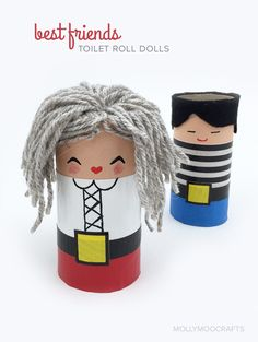 Toilet Roll Crafts For Kids - Best Friends for pretend play summer fun // @mollymooblog for @pbsparents