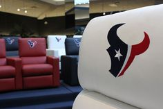 Texans home theatre seating at Gallery Furniture, buy a new home from me that has a media room ...... Then go to Gallery Furniture for this nice seating.