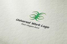 Universal Work Logo by BdThemes on @creativemarket