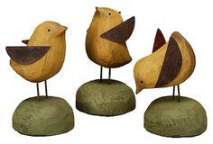 Wooden Chicks, Asst. of 3 on OneKingsLane.com