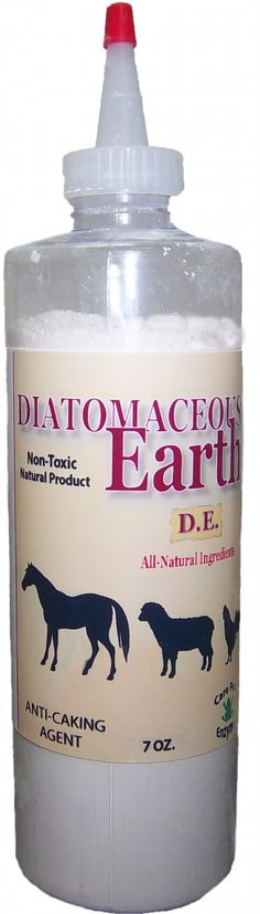 Uses for Diatomaceous Earth for animals.  Can be used to get rid of tics, fleas, worms, parasites, etc.