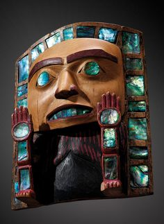 A Tsimshian ceremonial headdress frontlet, British Columbia, Northwest Coast