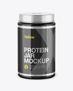 Glossy Protein Jar Mockup in Jar Mockups on Yellow Images Object Mockups - Glossy Protein Jar Mockup. Present your design on this mockup. Includes special layers and smart ob - Nutrition Education, Athlete Nutrition, Nutrition Month, Holistic Nutrition, Nutrition Plans, Sports Nutrition, Kids Nutrition, Nutrition Tips, Health And Nutrition