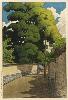 Hasui Kawase (1883-1957) - Summer afternoon in Kanazawa (Kanazawa Shimo Honda-Cho) (1921)