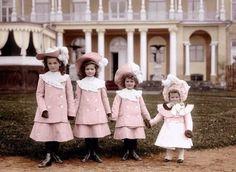 Великие Княжны Российской Империи: Ольга, Татьяна, Мария и Анастасия Романовы, 1902 год