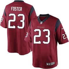 nike limited mens houston texans 23 arian foster alternate red nfl jersey 89.99