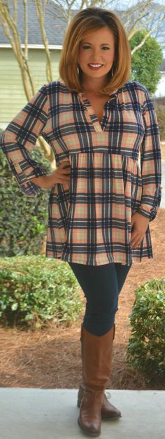 Perfectly Priscilla Boutique - When In Doubt Plaid It Out Top, $40.00 (http://www.perfectlypriscilla.com/when-in-doubt-plaid-it-out-top/)