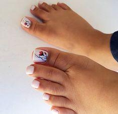 Nail Designs Toenails, Nail Polish Designs, Acrylic Nail Designs, Manicure And Pedicure, Acrylic Nails, Pretty Toe Nails, Cute Toe Nails, Pretty Toes, Toe Nail Art