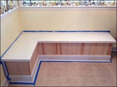 """A few months back, a friend emailed me to say she had an idea and needed my help. It started with: """"I have an idea and what I want to . Booth Dining Table, Dinning Room Bench, Corner Booth Kitchen Table, Booth Seating In Kitchen, Corner Banquette, Kitchen Booths, Corner Seating, Kitchen Benches, Corner Nook"""
