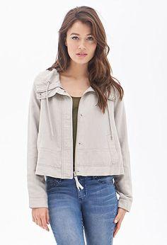 Linen-Blend Utility Jacket