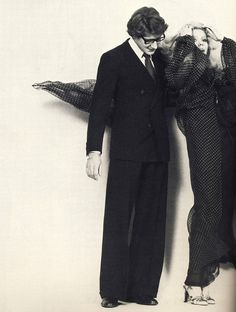 yves st. laurent and catherine deneuve