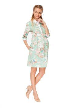 """Платье """"Полина"""" изумрудное для беременных и кормящих – цены в Москве в интернет-магазине I Love Mum"""