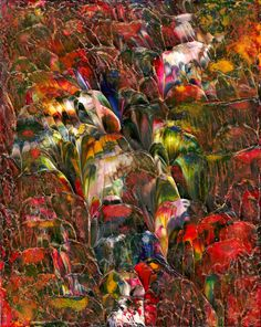 Glass Flowers Abstract Acrylic Fine Art Painting in by rostudios, $40.00