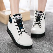 Boots Martin nữ cổ thấp, thắt dây thể thao, phong cách Hàn Quốc