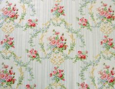 This listing is for one shabby chic vintage style half yard of fabric. Rococo or regency style, this could go either way. Absolutely gorgeous