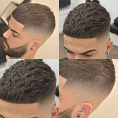Antenados na moda: Cortes masculinos para 2018 / 2019 Take a look at some cool Visit Our Site for more Cool Content for and Short Fade Haircut, Crop Haircut, Short Hair Cuts, Haircut Men, Barber Haircuts, Haircuts For Men, Hair Barber, Faded Hair, Hairstyles Haircuts