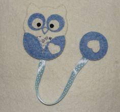 Wool Felt Owl Bookmark, Felt Owl, Owl Bookmark, Felt by NitaFeltThings
