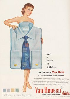 """Not a stitch in sight...on the new Van Chick"", Van Heusen Ad 1950"