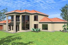 Roof Styles, House Styles, Double Storey House Plans, 4 Bedroom House, Closet Bedroom, Architecture Artists, House Plans With Photos, Site Plans, Mansions Homes
