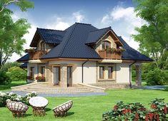 Projekt domu Damokles 140,59 m² - koszt budowy - EXTRADOM Home Fashion, Modern House Design, Gazebo, Outdoor Structures, Cabin, House Styles, House Ideas, Sweet, Projects