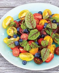 Tomato & Blueberry Salad via Sweet Paul Magazine #SweetPaul #Salad