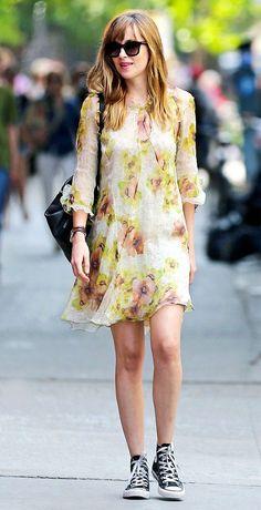 #vestido #amarillo #dakota #zapatilla