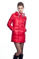 Red Down Coat X8Ynb9