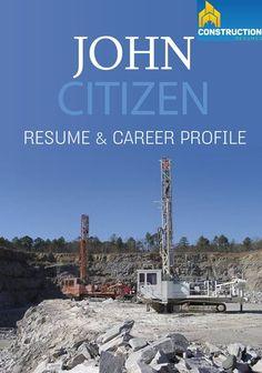 Coal Mining or Gold Mining Resume  Construction Resumes