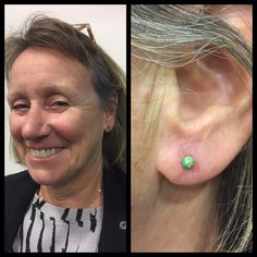 Var så heldig at få lov at give hende her huller i ørene igen og så med fine grønne opaler 😍   Ses i dag hos Artistic 10-18 ❤️🙏🏾🌈🦄