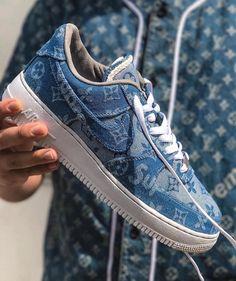 2bd58db459e507 Nike Air Force 1  Supreme x Louis Vuitton  Denim Custom - EU Kicks  Sneaker  Magazine