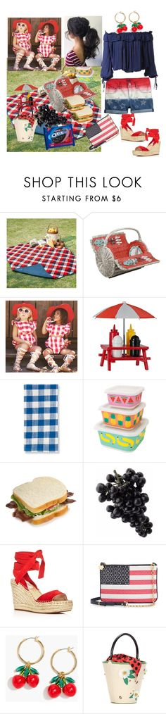"""""""July Picnic"""" by sherrysrosecottage-1 ❤ liked on Polyvore featuring Madison Park, Picnic Time, Grandin Road, Wyld Home, Kenneth Cole, Draper James, J.Crew, Charlotte Olympia and Dsquared2"""
