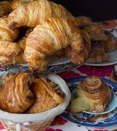 Great British Bake Off: How to make Viennoiserie - Croissants and Brioche are one cornerstone of French pastry, specifically Viennoiserie or breakfast - British Baking Show Recipes, British Bake Off Recipes, British Desserts, Scottish Recipes, French Desserts, Croissants, Cronut, Great British Bake Off, Pastry Recipes