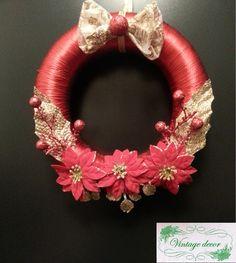 Read Cristmas wreath. Winter's Tale, A Christmas Story, Wreaths, Handmade, Jewelry, Garland, Hand Made, Jewellery Making, Jewerly