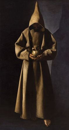 Francisco de Zurbaran, St. Francis of Assisi in his tomb, 1630-34. Oil on canvas.