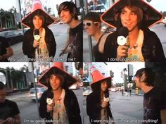 His favorite hat xD                                      Aw                                                               I would talk to you