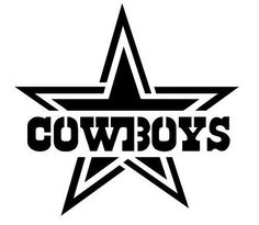 #NFL #Dallas Cowboys Star With Font Reuseable Stencil Free Usa S from $9.99