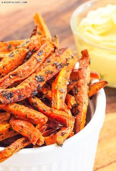Oven Baked Carrot and Sweet Potato Fries
