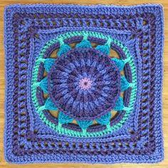 Ravelry: Prince Protea Square pattern by Virginia Burrow & Dedri Uys