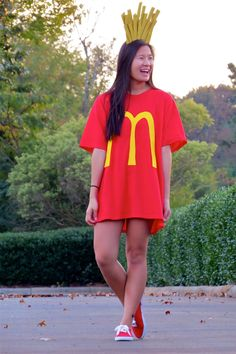 Easy DIY Halloween costume - French Fries