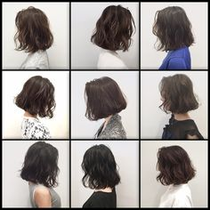 New hair cuts brunette short makeup Ideas Short Permed Hair, How To Curl Short Hair, Permed Hairstyles, Girl Short Hair, Long Hair Cuts, Trendy Hairstyles, Medium Hair Styles, Curly Hair Styles, Korean Short Hair
