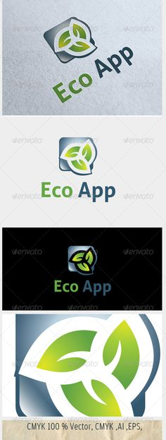 Eco App  #GraphicRiver         Easy to edit with highly applicable.