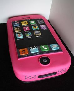 iPhone Cake- this is absolutely amazing. Teen Cakes, Girl Cakes, Pretty Cakes, Cute Cakes, Teenage Girl Cake, Iphone Cake, Birthday Cake Girls, Birthday Cakes, Unique Cakes