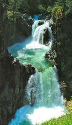 Englishman River Falls, Parksville, Vancouver Island. Canada.
