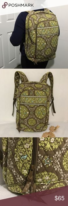 👜 Vera Bradley backpack Vera Bradley backpack. NWOT. EXCELLENT condition. Perfect for schools or travels. Very versatile. Lots of pockets and compartments. The first large pocket have a compartment for pens, id's or cards. The second large pockets is for books or travel clothes and the third large pockets is a padded compartments for laptop, ipad or any gadgets you wanna put. There is also side pocket and one more at the back. Measurement: 16hx13.5. Price is FIRM unless bundle ✔️add another…
