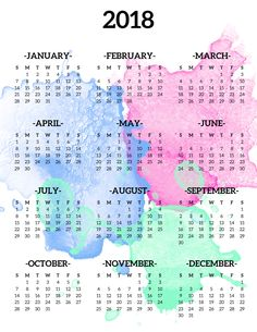 22 Best Free Printable Year At A Glance Calendars Images Free
