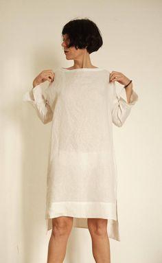 a4d09249e6e81 Linen Dress - Linen Tunic - Linen Womens Clothing - Gray Dress - Linen  Dresses For Women - Gray Line
