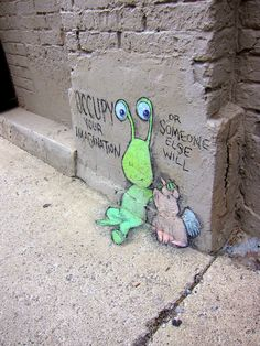 Chalk Art by David Zinn 5 - Occupy Your Imagination - Or Someone Else Will